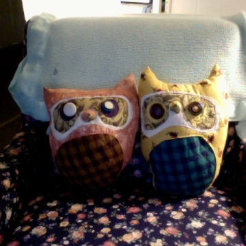 The 1st two owls made