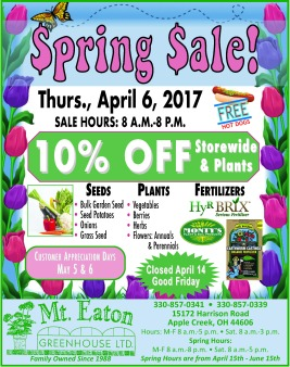 Spring Sale 3-29-17c